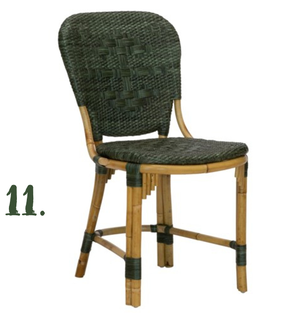 Green Moodboard: Fota Bistro Side Chair, Morris & Co x Selamat