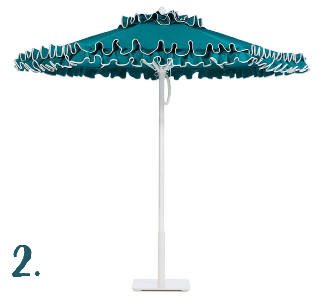July Moodboard - Petite Flamenco Umbrella - Santa Barbara Designs