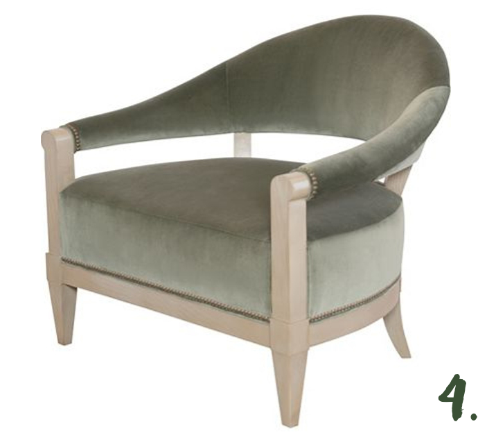 Green Moodboard: Crescent Chair, Ray Booth for Hickory Chair