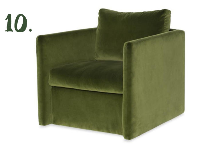 Green Moodboard: Dar Swivel Chair, Highland House