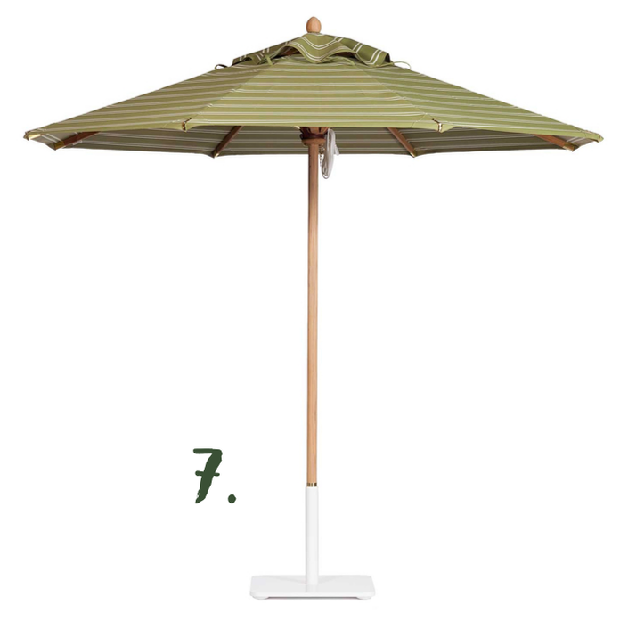 Green Moodboard: Riviera Umbrella, Santa Barbara Designs