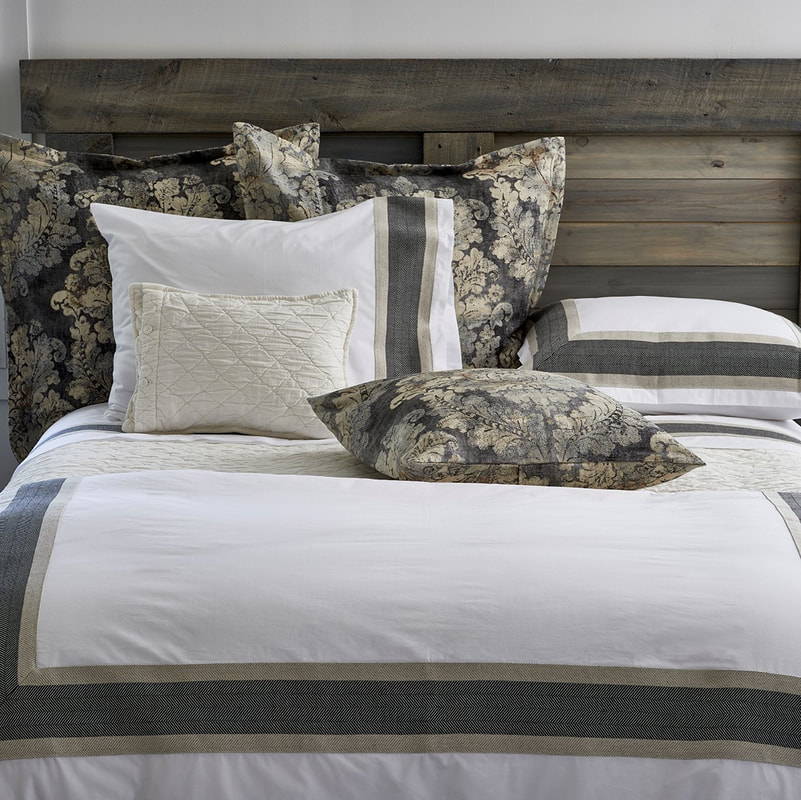 Traditions Linens at Hoff Miller at Denver Design Center  #traditionslinens #codarus #hoffmiller #denverdesign #bedding